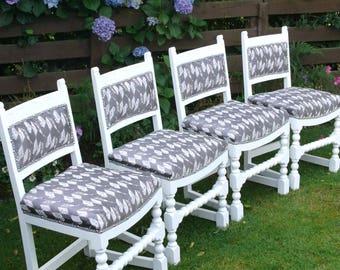 Elegant vintage dining chairs
