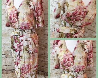 SALE! Floral vintage dress