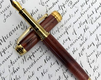 Special Reserve English Purple Yew - SR Maplehurst Fountain Pen in Gold (1071)