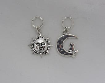 Sun and Moon Knitting Stitch Markers
