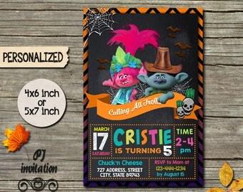Trolls Birthday,Trolls Birthday Invitation,Trolls Invite,Trolls Party,Disney Trolls,Trolls Card,Trolls Printable,Trolls Invitations,Trolls