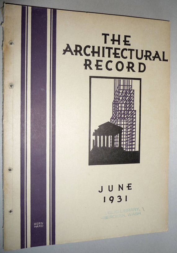 The Architectural Record Vol. 69 No. 6, June 1931 - Architecture Building Design Magazine