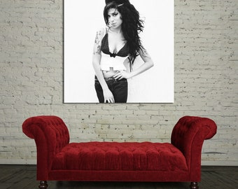 37bw Poster Wall Mural Amy Winehouse Canvas & Stretcher Bars
