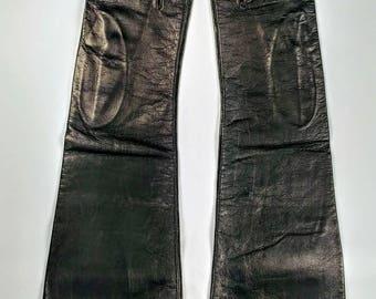 Michael Swiss black silk lined kid leather gloves ~ Size 6.5 ~ Chevreau Grenoble