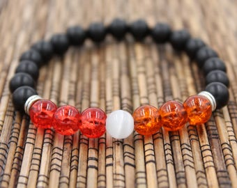 Vermilion - Beaded Bracelet