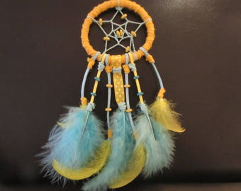 Dream catcher blue and yellow