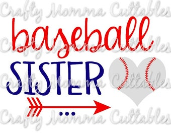 Baseball Sister SVG file // Baller Sister SVG // Sister Cut File // Ball sister Silhouette File // Cutting File // Little Sis SVG file