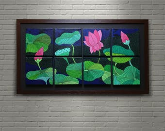 Large Canvas Wall Art Original Painting With Acrylics Multi Panel