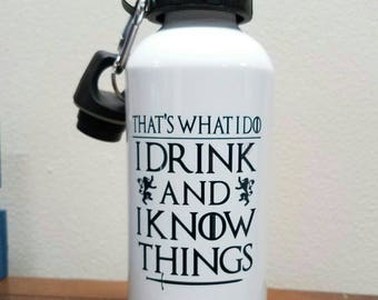 That's What I Do Aluminum Water Bottle