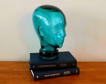 Aqua Sea Blue Glass Head  SHIPPING INCLUDED