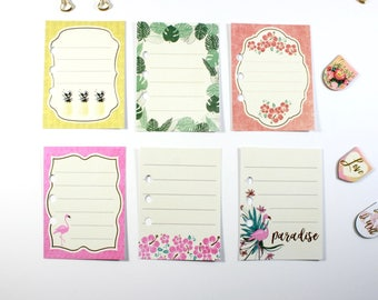 6 Personal Planner Mini Notes Inserts, Personal Planner Inserts, Personal Planner Accessories, Filofax Personal Notes Inserts, Filofax Notes