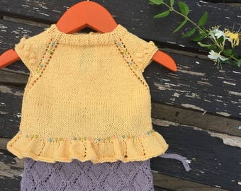 Clothing baby, summer, baby shower set, yellow