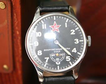 Pobeda watch, vintage watch, soviet watch, ussr watch, military watch, men's watch, russian watch, wrist watch, retro watch