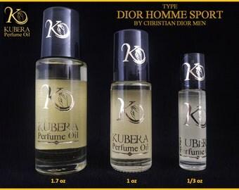 Type Dior Homme Sport perfume in oil for men 1/3oz 1oz 1.7oz