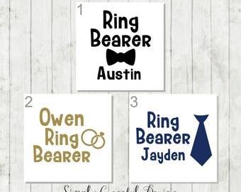 Ring Bearer Decal, Ring Bearer Gift, DIY Wedding Decal, Personalized Wedding Decal, Wedding Tumbler Decal, Bridal Party Gifts, Wedding Decal