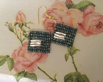 Square drop earring