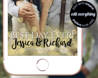 Best Day Ever Snapchat Geofilter - Best Day Ever Snapchat Filter - Best Day Ever Snapchat Wedding Geofilter - Wedding Snapchat Geofilter