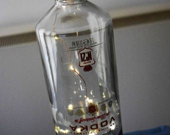 A Beautiful Smirnoff Vodka Bottle with 20 LED lights