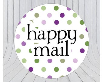 Happy mail stickers, Mail stickers, packaging stickers, delivery stickers, 101