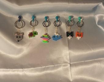 Animal Keychains/Magnets - Perler Bead Art