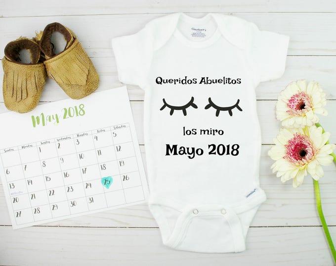 Spanish Baby Announcement Onesie
