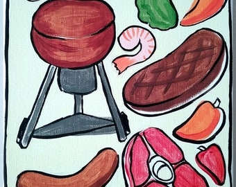 Small Kettle Weber Painting