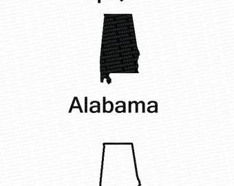 Alabama Vector, State Clipart, Alabama Clip Art, Alabama Map Clip art SVG, State png, DXF, pdf, EPS #mp-30