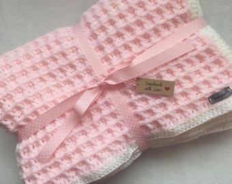 Crochet baby blanket | Baby Shower Gift | Ready to Ship