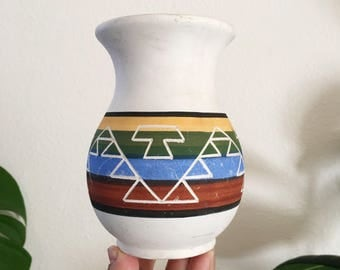 Vintage Native American Small Clay Pot / Vase : Southwest Decor