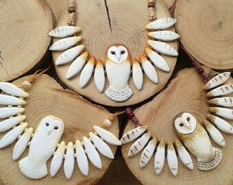 Necklace OWL Totem (made to order)