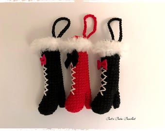 Mini boots to fit ring keychain or bag charm