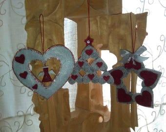3 Christmas tree Decorations