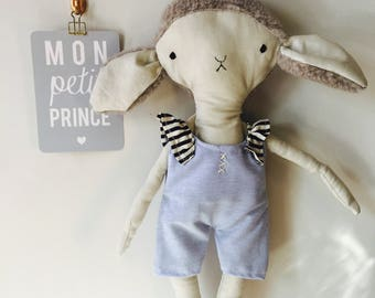 Doll lamb sheep goat stuffed animal toy baby and child