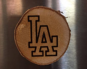 Sports Team Wood Burned Magnet Set of Two