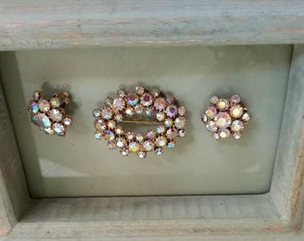 Vintage Brooch Set by Juliana Jewelry Made by Delizza and Elster