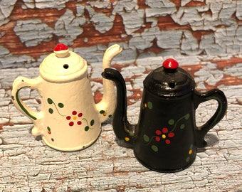 Vintage Cast Iron Pitcher Salt & Pepper Shakers