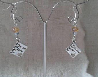 """Earrings """"secret love"""""""