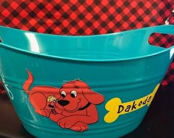 Clifford the Big Red Dog Birthday Basket, Clifford Basket, Personalized Gift Basket, Birthday Gift