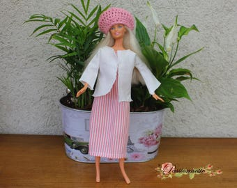 Dress and jacket for Barbie. hand made