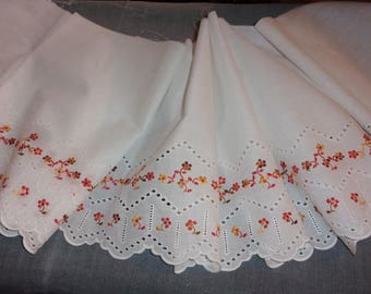 vintage English embroidery frill