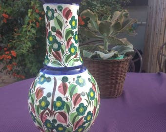 Hand painted vase from Mexico