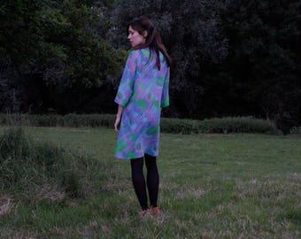 1960's Hippy Print Dress/Top/ Handmade/one size