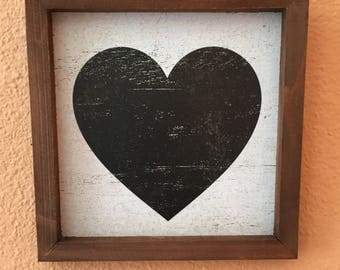 Small Heart Box Frame