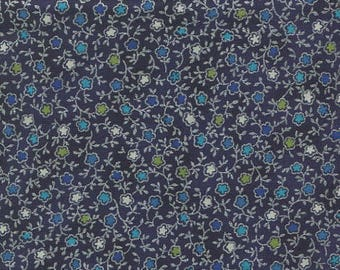 TALIA patchwork blue and silver fabric Hoffman fabric