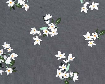 MICHAEL MILLER fabrics LILY OF THE VALLEY grey patchwork fabric