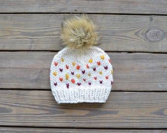 Fur Pom Pom Beanies, Toddler Hats for Girls, Pom Pom Hats, Fall Hats for Girls, Baby Pom Pom Beanie, Gifts for Girls, Baby Beanie