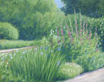Foxgloves and Irises