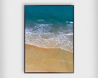 Tide Print | Nature | Blue - White | Beach - Waves - Poster