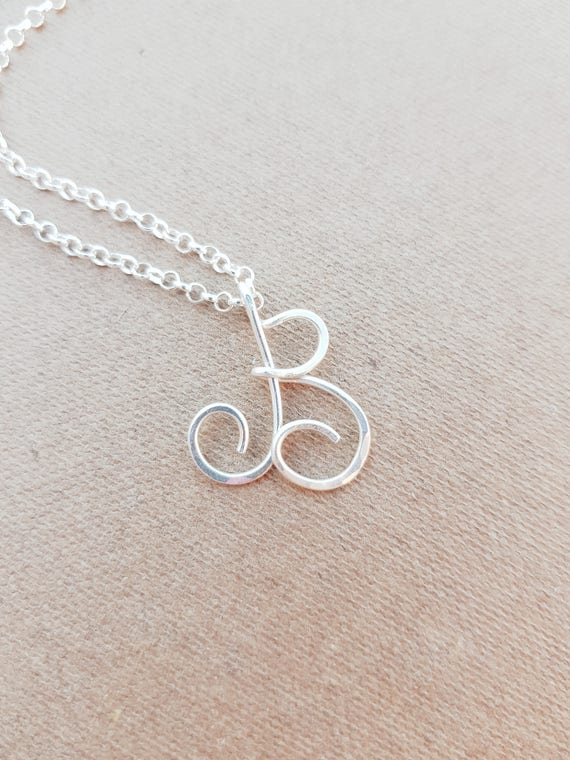 Upper case letter b necklace initial b necklace letter b charm like this item mozeypictures Choice Image