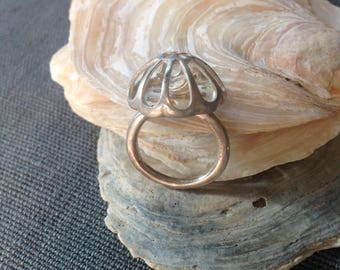 Vintage sterling bird ring